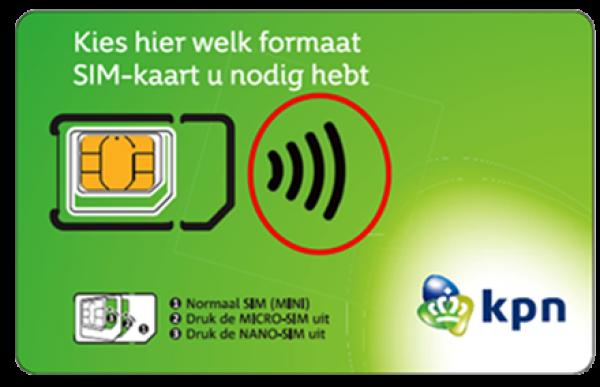 prepaid sim kaart KPN Prepaid Simkaart t.w.v € 10,